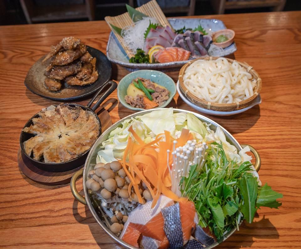 秋鮭ときのこの味噌バター鍋コース