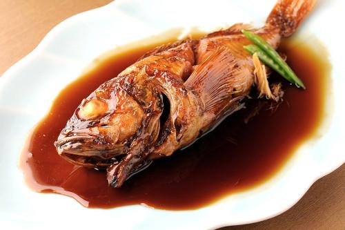 こだわり醤油の鮮魚の煮付け